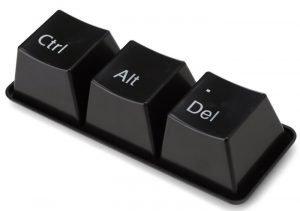 Сочетание клавиш CTRL + ALT + DELETE